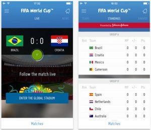 Cách cập nhật nhanh thông tin world cup bằng ứng dụng di động