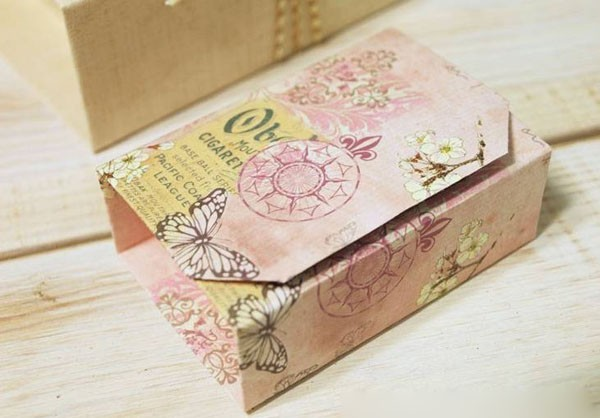 Cách làm hộp quà 8-3 theo phong cách origami đơn giản, sang trọng