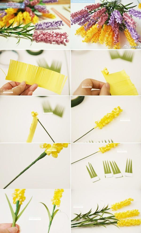 Cách làm hoa oải hương bằng giấy đẹp như hoa thật