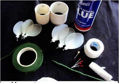 Cách làm hoan tulip bằng vải voan đơn giản