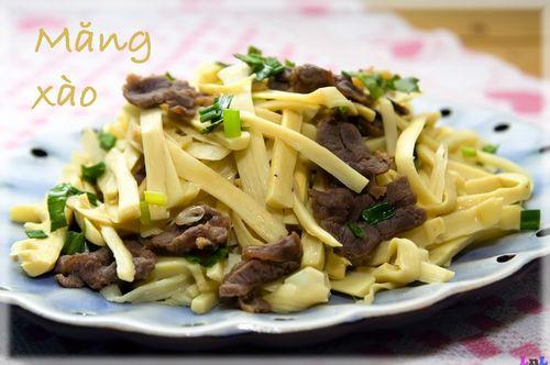 Cách làm măng xào thịt bò ngon miệng cho bữa tối