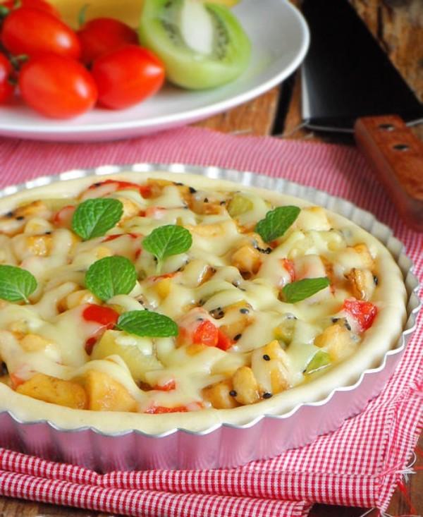 Cách làm pizza hoa quả mùa hè ngon miệng, giảm cân