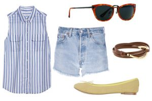 Cách phối đồ với quần Short Jean cực chất cho ngày chuyển thu