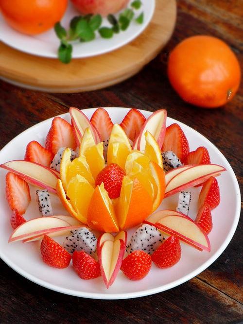Cách trang trí trái cây trên đĩa đơn giản đẹp mắt