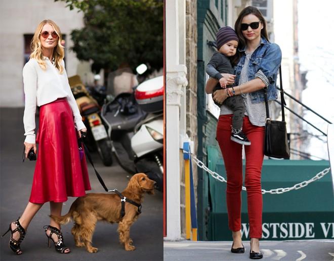 Cách kết hợp quần áo váy màu đỏ cho bạn xinh tươi dạo phố