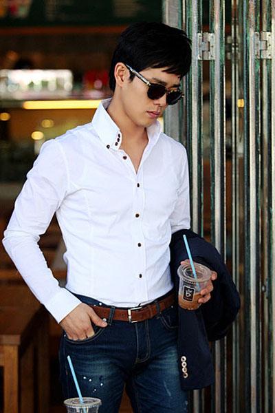 Cách phối quần jean với áo sơ mi nam đơn giản mà đẹp